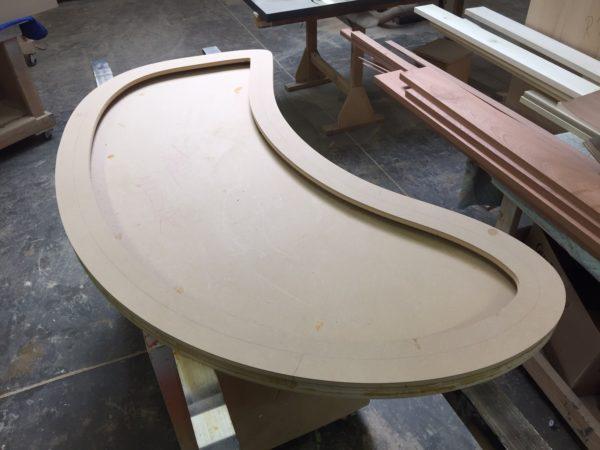 Custom lacquer desk