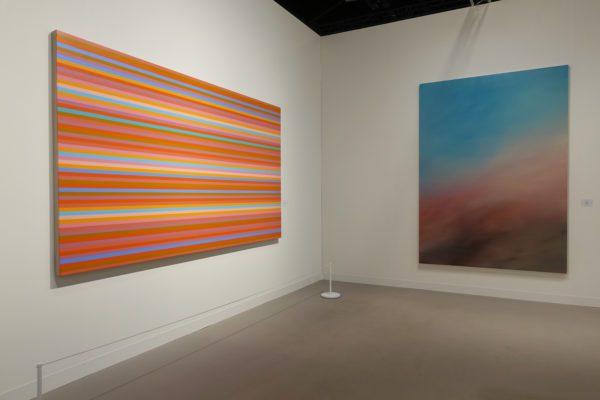 Bridget Riley and Jeremy Demester at Art Basel