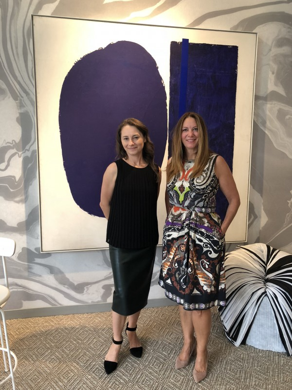 Artist Susan Vecsey  and Christine
