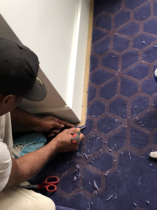 Tailoring a rug to fit